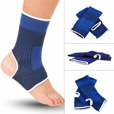 Blue Elastic Ankle Foot Compression Relief Pain Care Sports Protective Socks