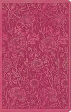 ESV UltraThin Bible (TruTone, Berry, Floral Design) (2014, Imitation Leather)
