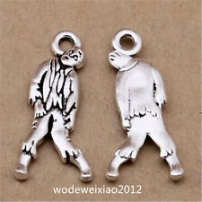 10pc Tibetan Silver Zombie Pendant Bracelet Charms Jewelry wholesale JP1184