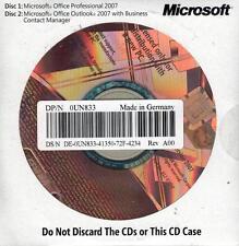 MS Office 2007 Professional OEM Vollversion englisch mit Datenträger