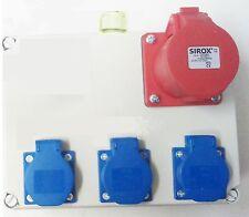 Stromverteiler,Wandverteiler 3x Schuko ,1x CEE 16A Steckdose 5 polig