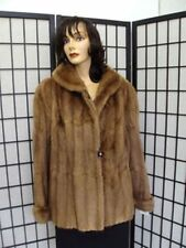 MINT BROWN  MUSKRAT FUR JACKET COAT WOMEN WOMAN SIZE 16-18 XXLARGE