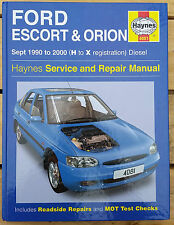 Ford Escort and Orion Sept 1990 to 2000 Haynes Manual (H to X Reg) Diesel