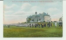 FULL BATTALION MARCHING AT NEWPORT IN FRONT OF WAR COLLEGE. R.I. MARCHING BAND.