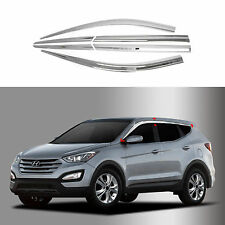 Chrome Shade/Rain Guard Door/Window Vent Visor for 13+ Santa Fe/Santa Fe Sports