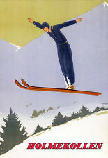 Art Poster - Holmekollen Ski Travel Vacation Holiday A3 Print