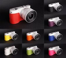 Handmade Real Leather Half Camera Case Camera bag for Samsung NX1000 10 colors