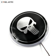 Styling 82mm Skull Car White LED Background Light Sticker For E30 E32 E34 E36