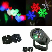 Outdoor Moving Snowflake LED Laser Light Projector Landscape Xmas Home Garden US