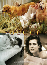 Charlotte Casiraghi 2-page clipping Nov 2013 ad for Gucci - dogs, retrievers?