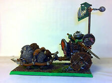 "WARHAMMER ORCS AND GOBLINS ""ORCS CHARIOT PRO PAINTED"""