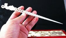 EXQUISITE CHINESE ANCIENT WHITE JADE CARVING PHOENIX HAIRPIN HAIR STICKS cx1063