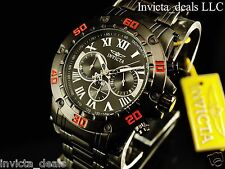 Invicta Men's 48mm Specialty Chronograph Black IP Stainless Steel W/ 1 Slot Case