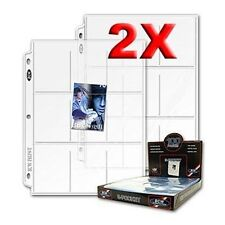 200 Album Pages Baseball Card 9 POCKET protector, 9 Slots per page, BCW brand