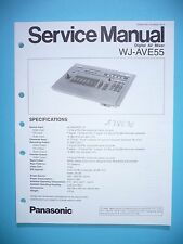 Service manual manual for Technics WJ-AVE55 ,ORIGINAL
