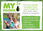 My Squeeze Reusable Baby Toddler Food Pouch BPA Free 170ml Freeze Heat 4 colours