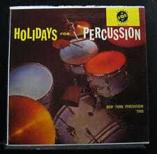 New York Percussion Trio - Holidays For Percussion LP VG+ VX 425.740 RVG Record