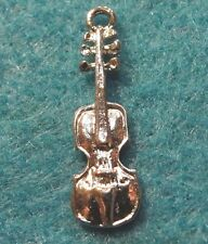 10Pcs. Tibetan Silver Detailed VIOLIN Charms Pendants Drops Jewelry Finding M09