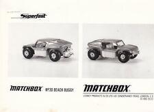 Matchbox News Juni 1970 Superfast 30B Beach Buggy mit s & w Foto
