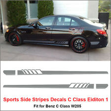 Edition 1 Side Stripe Decal Sticker for Mercedes Benz W205 C Class AMG Matt Gray