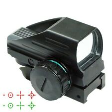 TACTICAL REFLEX 4 RETICLE HOLOGRAPHIC RED GREEN DOT SIGHT w/ 20mm RAIL MOUNT