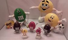 Official Vintage Collectable M&M Sweet Dispenser Figures Plush Bundle Mars 90's