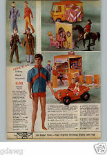 1971 PAPER AD Doll Barbie Ken PJ Camper Horse Dancer Cafe Dunne Buggy Stage