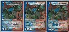 3 KAIJUDO ENSLAVED FLAMETROPUS DUEL DAY FOIL PROMO MINT PLAY SET