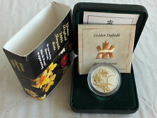 CANADA 2003 GOLDEN DAFFODIL SILVER PROOF 50 CENTS - complete