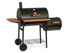 Char-Griller 1224 Smokin Pro 830 Square Inch Charcoal Grill Smoker Side Firebox