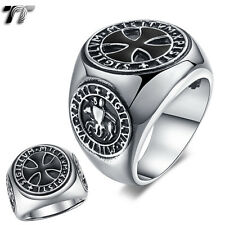 High Quality TT 316L Stainless Steel Iron Cross Ring Size 10 (RZ131)