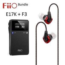 FiiO E17K Portable Headphone Audio Amplifier/DAC + F3 IEM headphones BUNDLE