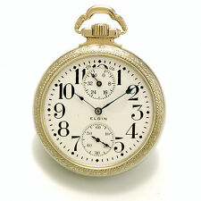 Rare 23-Jewel Elgin Veritas Railroad Pocket Watch 16-Size Up/Down Indicator