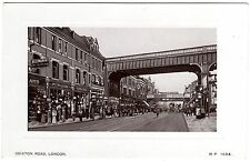 ANIMATED POSTCARD RAILWAY BRIDGES-BRIXTON STATION SIGN-BRIXTON ROAD-LONDON
