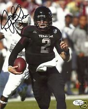 JOHNNY MANZIEL TEXAS A&M AGGIES SIGNED 8X10 PHOTO W/JSA COA #13