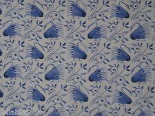 """WILLIAM MORRIS CURTAIN FABRIC """"Swans"""" 3.4 METRES DELFT BLUE DM3P224479"""
