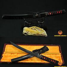 FULL BLACK BLADE HAND MADE JAPANESE SAMURAI SWORD TANTO SHARP EDGE