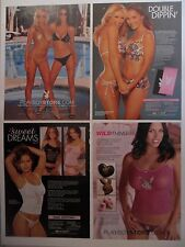Lot #2 of 12 Different Playboy Fashions Magazine Print Ads ~ Sexy Lingerie ++