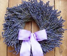 Winter Spring Wreath Floral Country Wedding DRIED LAVENDER DOOR WREATH DECOR