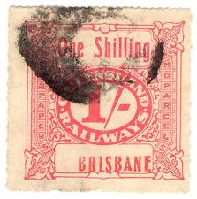 (I.B) Australia - Queensland Railways : Parcel Stamp 1/- (Brisbane) inv wmk