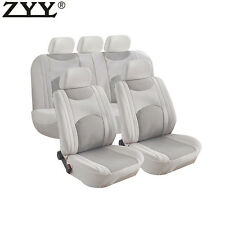9pcs New Universal Beige Airbag Split Bench Headrest Front & Rear Seat Covers