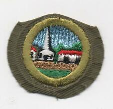 Citiz. in the Community Merit Badge, Typ E Khaki Nar. Crimped (1952-60), Mint!