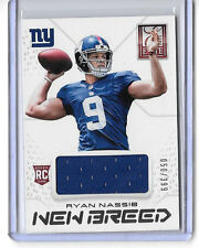 2013 ELITE NFL FOOTBALL NEW BREED RC RYAN NASSIS JERSEY /399 NEW YORK GIANTS
