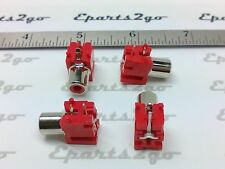 20x RED RCA AUDIO FEMALE JACK CONNECTOR pcb mount right angle cable plug socket