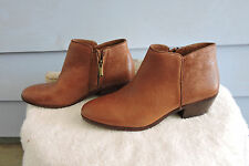 Women's Sam Edelman Petty Ankle Boots Brown Leather Size 6