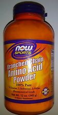 NOW SPORTS BRANCHED CHAIN AMINO ACID POWDER 100% pure 12 oz (340 g) Sealed