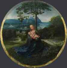 Metal Sign Netherlandish The Virgin And Child In A Landscape A4 12x8 Aluminium