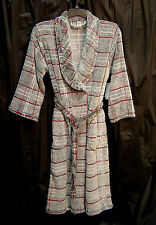 ULTRA SOFT PLUSH FLECKED CHECKED STRETCH MICRO FLEECE WRAP ROBE~M~L~S~SMALL~NW