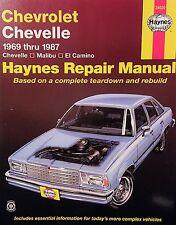 Haynes Repair Manual 24020 / Chevelle / Malibu / El Camino / (1969-1987)
