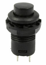 2 x Black Off(On) Momentary Push Button Switch Horn Doorbell Car Dash 12V